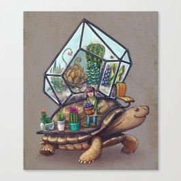 Tortoise Terrarium Canvas Print