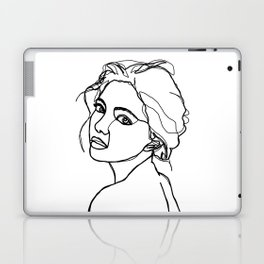 Woman's face line drawing - Adena Laptop & iPad Skin