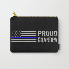 Police: Proud Grandpa (Thin Blue Line) Carry-All Pouch