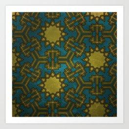 Virus (hexagonal pattern) Art Print
