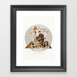 Just Gimme Indie Rock | Collage Framed Art Print