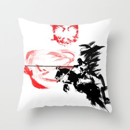 Polish Hussar - Poland - Polska Husaria Throw Pillow