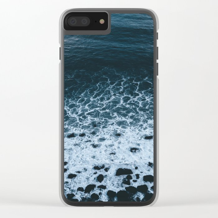 Iceland waves and shapes - Landscape Photography Clear iPhone Case