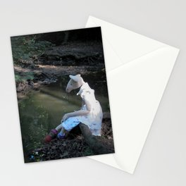 Miss Mouse by the Stream Stationery Cards