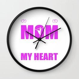 Dancing Mom Full Heart Mothers Day T-Shirt Wall Clock