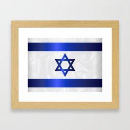 Israel Star Of David Flag Framed Art Print
