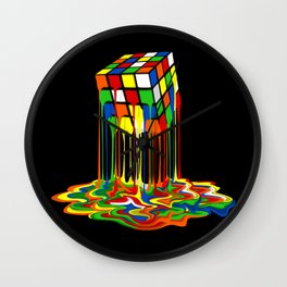 Rainbow Abstraction melted rubix cube iPhone 4 5 6 7 8, pillow case, mugs and tshirt Wall Clock