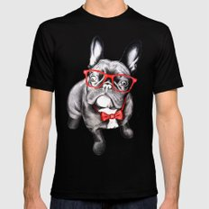 Happy Dog Mens Fitted Tee MEDIUM Black