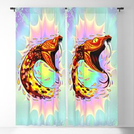 Snake Attack Psychedelic Art Blackout Curtain