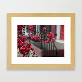 RED CHROME PETALS Framed Art Print