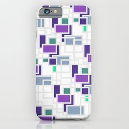 Purple geometry iPhone Case
