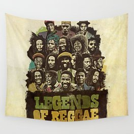 Legends of Reggae Poster Wall Tapestry
