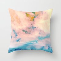 outer space Throw Pillows featuring OUTER SPACE by u t a