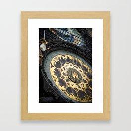 Prague astronomical clock Framed Art Print
