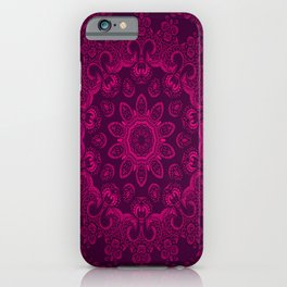 Mandala Magenta iPhone Case