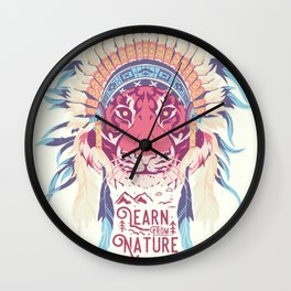 Learn from Nature Wall Clock