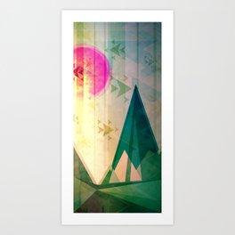 Ain't no mountain high enough Art Print