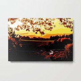 idyllic nature landscape vayr Metal Print