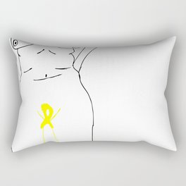 Cecile yellow ribbon Rectangular Pillow