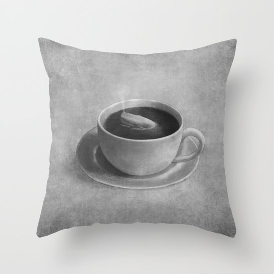 Whale in a tea cup  Throw Pillow