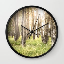 Pinewood Wall Clock