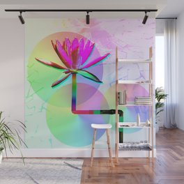 Rainbow Lotus Wall Mural