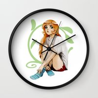 socks Wall Clocks featuring Socks by ChangingColors