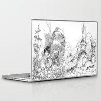bouletcorp Laptop & iPad Skins featuring Promenade dans la montagne - Walking in the mountains by Bouletcorp