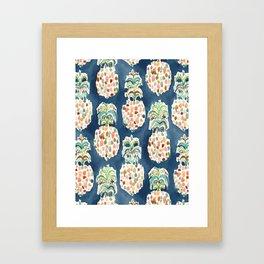 PINEAPP FOR THAT Colorful Pineapples Framed Art Print