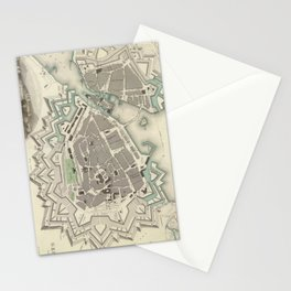 Vintage Map of Geneva (1841) Stationery Cards