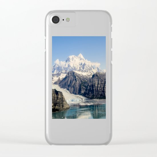 Mountain Lake Landscape Clear iPhone Case