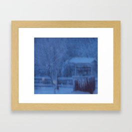 Country Whiteout Framed Art Print