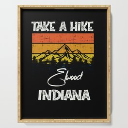 Elwood Indiana Vintage Take A Hike Funny Serving Tray