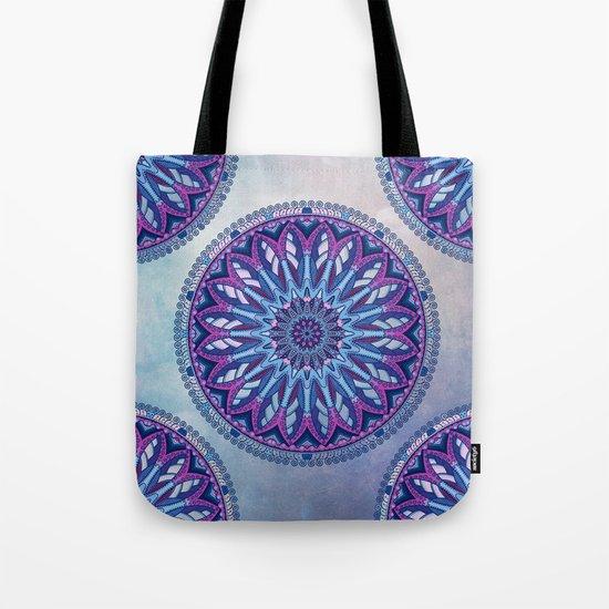 Iris Mandala Tote Bag