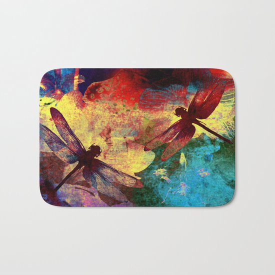 Dragonflies Bath Mat