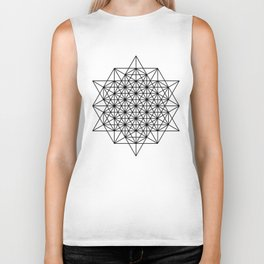 Star tetrahedron, sacred geometry, void theory Biker Tank