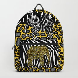 Elephants in Animal Prints Backpack