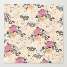 ombre floral - all Canvas Print
