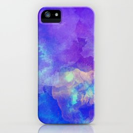 Watercolor abstract art iPhone Case