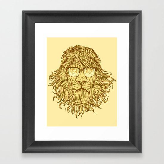 Lions Are Smarter Than I Am Framed Art Print