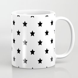 Black and white Star Pattern Coffee Mug
