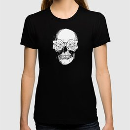 Skull and Roses | Black and White T-shirt