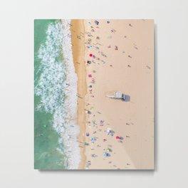 Beach Aerial Metal Print