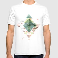 Abstract illustration Mens Fitted Tee White MEDIUM