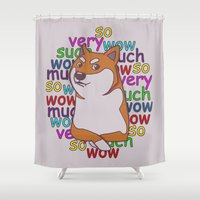 doge Shower Curtains featuring Doge  by Corinna Schlachter