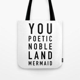 Land Mermaid Tote Bag