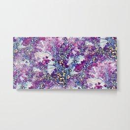 Underwater Forest (violet-blue) Metal Print