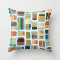 kandinsky Throw Pillows featuring Color apothecary by Efi Tolia