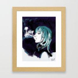 Smoking Colors. Framed Art Print