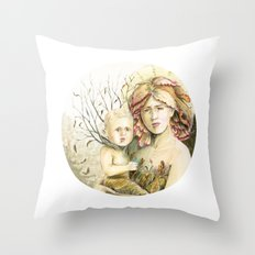 Mother Earth to her child Throw Pillow